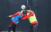 Zweikampf Alexander Meier (Eintracht Frankfurt) und Marco Russ (Eintracht Frankfurt) - 06.03.2018: Eintracht Frankfurt Training, Commerzbank Arena