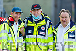 Vincent Hanlon, Noel Finucane and Liam Mulvihill of the Tralee Red Cross branch at the Fossa v Ballyduff game in the Junior Premier Football Club Championship.