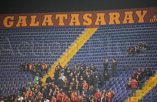 25.02.2016. Stadio Olimpico, Rome, Italy. Uefa Europa League, Return leg of SS Lazio versus Galatasaray. Fans of Galatasaray