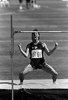 Pix:Michael Steele/SWpix...Athletics. Commonwealth Games, Auckland, 1990...COPYRIGHT PICTURE>>SIMON WILKINSON..High Jump.
