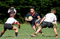Hurricanes U15 Rugby - Gisborne Boys' High School v Feilding High School at St. Patrick's College, Silverstream, Upper Hutt, New Zealand on Saturday 7 September 2019. <br /> Photo by Masanori Udagawa. <br /> www.photowellington.photoshelter.com