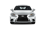 Car photography straight front view of a 2016 Lexus IS F Sport Line 4 Door Sedan Front View