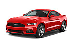 2017 Ford Mustang V6 2 Door Coupe Angular Front stock photos of front three quarter view