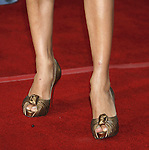 """Actress Eva Longoria Parker 's shoes at the Premiere Of Fox's """"What Happens In Vegas"""" on May 1, 2008 at the Mann Village Theatre in Los Angeles, California."""