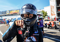 Sep 30, 2017; Madison , IL, USA; NHRA top fuel driver Ashley Sanford during qualifying for the Midwest Nationals at Gateway Motorsports Park. Mandatory Credit: Mark J. Rebilas-USA TODAY Sports