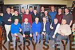 Past and present employees of Eircom who held a reunion in the Old Killarney Inn on Friday night front row l-r: Seamus Cooper, Michael Foley, John McSweeney, Tim Lynch, Noel O'Sullivan, Mick Quirke. Back row: Dermot Foley, Steve Cashman, John Joe Tangney, Robert Kerins, Con Lynch, Jim O'Sullivan, Pat Grandfield, Anthony Dennehy, Tim Lyne, John Kerins, Jim Sheehan, Tadhg Healy..