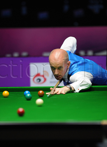 01.11.2012. Chengdu, China. Peter Ebdon of England  during The Quarter finals during The World Snooker International Championship in Chengdu Capital City of Southwest China s Sichuan Province ON Nov 1 2012 China Chengdu Snooker World International Championship CN