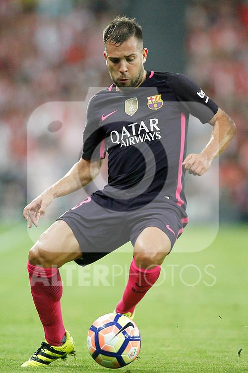 FC Barcelona's Jordi Alba during La Liga match. August 28,2016. (ALTERPHOTOS/Acero)