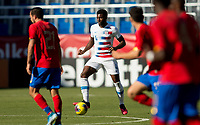 CARSON, CA - FEBRUARY 1: Mark McKenzie #4 of the United States moves with the ball during a game between Costa Rica and USMNT at Dignity Health Sports Park on February 1, 2020 in Carson, California.