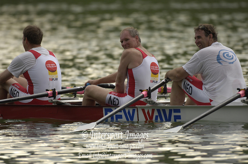 2005 FISA World Cup, Rotsee, Lucerne, SWITZERLAND, 09.07.2005 Right to Play boats.© Peter Spurrier.  email images@intersport-images..[Mandatory Credit Peter Spurrier/ Intersport Images] Rowing Course, Lake Rottsee, Lucerne, SWITZERLAND.