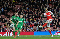 Mesut Ozil of Arsenal scores his hatrick goal against Ludogorets Razgrad to make it 6 0 during the UEFA Champions League match between Arsenal and PFC Ludogorets Razgrad at the Emirates Stadium, London, England on 19 October 2016. Photo by David Horn / PRiME Media Images.