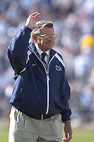 01 October 2005:  Penn State coach Joe Paterno..Penn State Nittany Lions  defeated the Minnesota Golden Gophers  44-14 September 1, 2005 at Beaver Stadium in State College, PA..