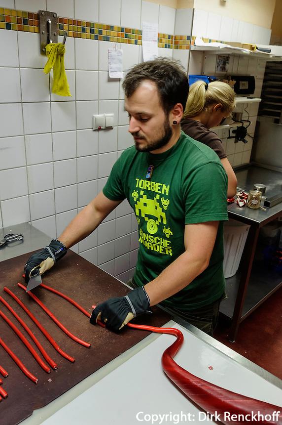Bonbon-Herstellung im Bonscheladen (Ottensen) Friedensallee 12, Hamburg, Deutschland