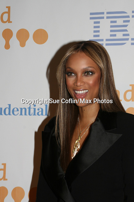Tyra Banks (America's Next Top Model) at the 20th Annual GLAAD Media Awards on March 28, 2009 at the New York Marriott, New York City, NY. (Photo by Sue Coflin/Max Photos)