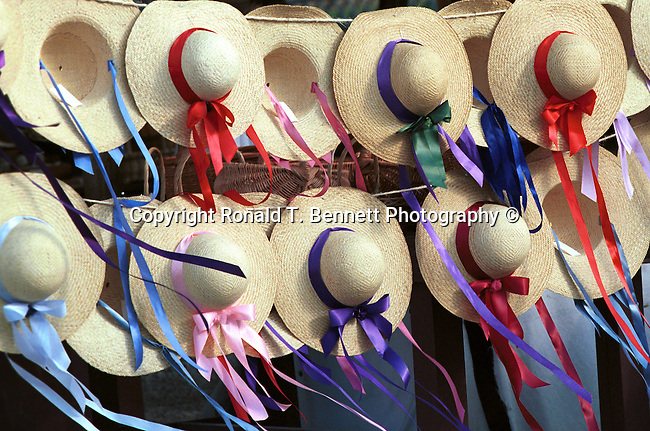 Straw hat colored ribbons blow in the breeze Colonial Williamsburg Virginia, Fine Art Photography by Ron Bennett, Fine Art, Fine Art photography, Art Photography, Copyright RonBennettPhotography.com ©