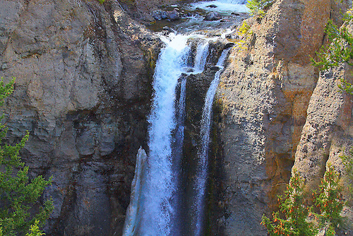 TOWER FALLS IN YELLOWSTONE NATIONAL PARK,WYOMING