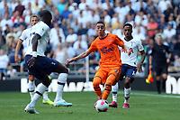 Miguel Almiron of Newcastle United and Moussa Sissoko of Tottenham Hotspur during Tottenham Hotspur vs Newcastle United, Premier League Football at Tottenham Hotspur Stadium on 25th August 2019