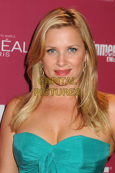 Jessica Capshaw.2011 Entertainment Weekly Women In Film Pre-Emmy Party held at BOA Steakhouse, West Hollywood, California, USA..September 16th, 2011.headshot portrait blue green strapless  .CAP/ADM/BP.©Byron Purvis/AdMedia/Capital Pictures.