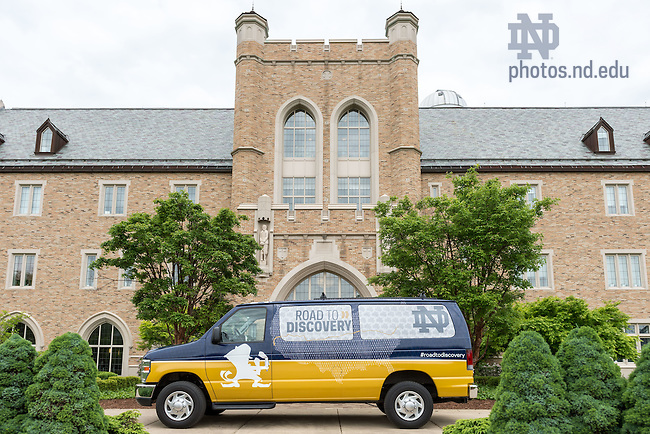 May 20, 2015; College of Science Road to Discovery Van, 2015. (Photo by Matt Cashore/University of Notre Dame)