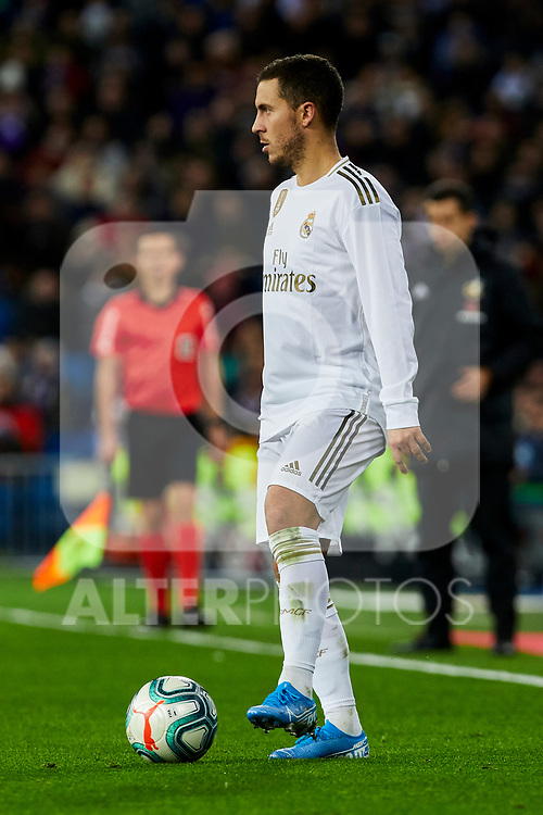 Ferland Mendy of Real Madrid during La Liga match between Real Madrid and Real Sociedad at Santiago Bernabeu Stadium in Madrid, Spain. November 23, 2019. (ALTERPHOTOS/A. Perez Meca)