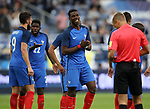 France's Paul Pogba looks on dejected after Raphael Varane's red card during the Friendly match at Stade De France Stadium, Paris Picture date 13th June 2017. Picture credit should read: David Klein/Sportimage