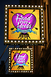 Theatre Marquee for the Opening Night Performance Curtain Call of 'Head Over Heels' at the Hudson Theatre on July 26, 2018 in New York City.