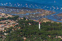 France, Gironde (33), Bassin d'Arcachon, Le Cap-Ferret, Vue aérienne// France, Gironde, Bassin d'Arcachon, Le Cap Ferret, aerial view
