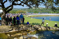 Dustin Johnson (USA) and Jon Rahm (ESP) putt on 11 during round 7 of the World Golf Championships, Dell Technologies Match Play, Austin Country Club, Austin, Texas, USA. 3/26/2017.<br /> Picture: Golffile | Ken Murray<br /> <br /> <br /> All photo usage must carry mandatory copyright credit (&copy; Golffile | Ken Murray)