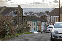 General view of Berwick Terrace in Mount Pleasant, Swansea, Wales, UK. Wednesday 30 January 2019