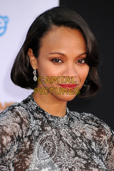 21 July 2014 - Hollywood, California - Zoe Saldana. 'Guardians of the Galaxy' Los Angeles Premiere held at the Dolby Theatre. <br /> CAP/ADM/BP<br /> &copy;Byron Purvis/AdMedia/Capital Pictures