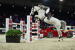 Henrik von Eckermann on Solitaer 41 competes during the Airbus Trophy at the Longines Masters of Hong Kong on 20 February 2016 at the Asia World Expo in Hong Kong, China. Photo by Juan Manuel Serrano / Power Sport Images