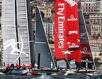 NAPOLI 11/04/2012 PRIMA GIORNATA DELLE WORLD SERIES DELL' AMERICAN'S CUP<br /> FOTO CIRO DE LUCA