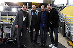 06 December 2015: ESPN broadcast crew. From left: Alejandro Moreno (VEN), Kasey Keller, Max Bretos, and Brian Dunseth. The Columbus Crew SC hosted the Portland Timbers FC at Mapfre Stadium in Columbus, Ohio in MLS Cup 2015, Major League Soccer's championship game. Portland won the game 2-1.