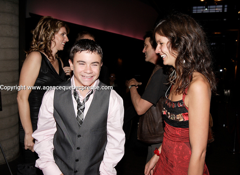 Montreal (Qc) CANADA, October 18 2007-<br /> Anais Barbeau-Lavalette, filmmaker (R) ,Maxime Desjardins-Tremblay (L), main <br /> actor<br /> in  Le Ring (The Ring). Quebec movie about a teenage boxer from a poor Montreal family, the movie is presented at the 2008 Berlin Film Festival.<br /> <br /> photo : Pierre Roussel (c)  Images Distribution<br /> <br /> <br /> photo : Pierre Roussel (c)  Images Distribution