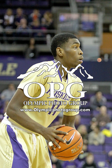 December 22, 2013:  Washington's Mike Anderson against Connecticut.  Connecticut defeated Washington 82-70 at Alaska Airlines Arena Seattle, Washington.