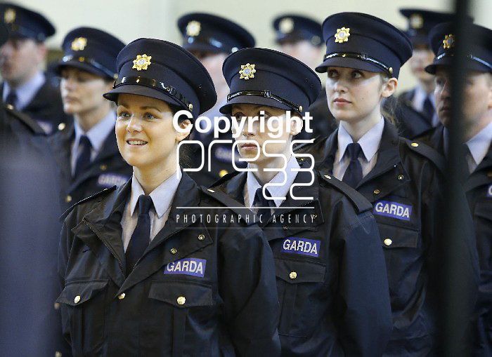 15/07/2013 Reserve Garda Graduates Elaine Power, Templogue, Linda Byrne, Abbeyleix and Amy Jenkins, Clondalkin pictured at a Garda Reserve Graduation Ceremony which took place at the Garda Training College, Templemore, Co. Tipperary. Picture: Don Moloney / Press 22