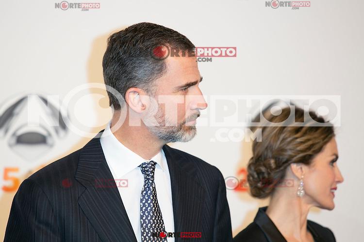 King Felipe VI and Queen Letizia attends the Antena 3 25 Aniversary at Council of Madrid, Madrid,  Spain. January 29, 2015.(ALTERPHOTOS/)Carlos Dafonte) /nortephoto.com<br /> nortephoto.com