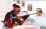 25/01/2015, Anterselva - Antholz - IBU Biathlon World Cup 2015 - Antholz -   Anterselva - Italy<br /> Laura Dahlmeier (GER) competes at the relay in Anterselva - Antholz, Italy on 25/01/2015. Germany's team with Franziska Hidelbrand, Franziska Preuss, Luise Kummer and Laura Dahlmeier wins.