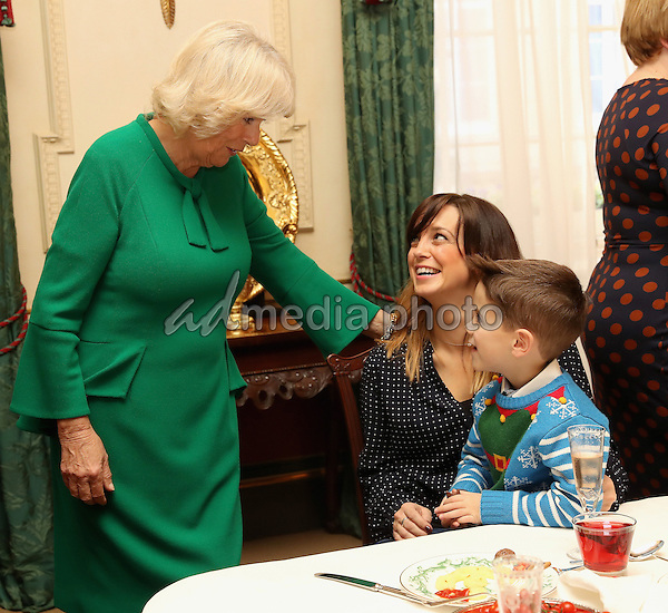 14 December 2016 - London, England - Camilla, Duchess of Cornwall decorates the Clarence House Christmas Tree at Clarence House. Photo Credit: Alpha Press/AdMedia