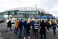 Supporters arrive at Twickenham Stadium. Gallagher Premiership match, The Clash, between Bath Rugby and Bristol Rugby on April 6, 2019 at Twickenham Stadium in London, England. Photo by: Patrick Khachfe / Onside Images