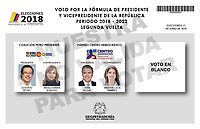 BOGOTA - COLOMBIA, 15-06-2018: La segunda vuelta de las elecciones presidenciales de Colombia de 2018 se celebrarán el domingo 17 de junio de 2018. El candidato ganador gobernará por un periodo máximo de 4 años fijado entre el 7 de agosto de 2018 y el 7 de agosto de 2022. / Colombia's 2018 second round presidential election will be held on Sunday, June 17, 2018. The winning candidate will govern for a maximum period of 4 years fixed between August 7, 2018 and August 7, 2022. Photo: VizzorImage / Cont