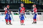 Solna 2014-03-15 Bandy SM-final Damer Kareby IS - AIK  :  <br /> Karebys Camilla Johansson och Karebys Linnea Gunnarsson deppar<br /> (Foto: Kenta J&ouml;nsson) Nyckelord:  SM SM-final final dam damer Kareby AIK depp besviken besvikelse sorg ledsen deppig nedst&auml;md uppgiven sad disappointment disappointed dejected
