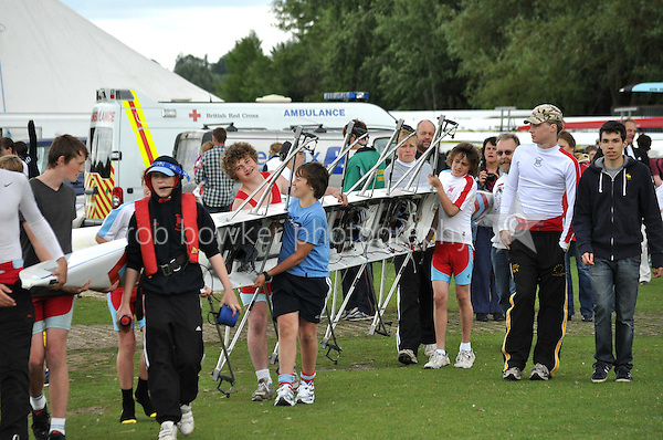 Thames Valley Park Regatta, Reading, Berkshire. 19.06.2011.J13 4X+.Wallingford RC.Scrutineering