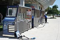 Vorbereitung an den Verpflegungsständen am Hard Rock Stadium vor dem Super Bowl LIV - 22.01.2020: SB LIV im Hard Rock Stadium Miami