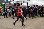 14.07.2019, Silverstone Circuit, Silverstone, FORMULA 1 ROLEX BRITISH GRAND PRIX 2019<br /> , im Bild<br />Sebastian Vettel (GER#5), Scuderia Ferrari Mission Winnow rennt durch den Paddock<br /> <br /> Foto © nordphoto / Bratic
