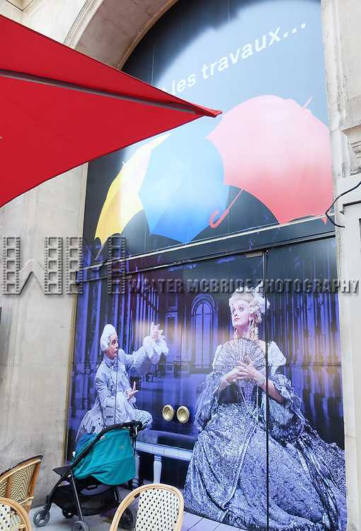 Theatre Billboard Previews for 'Singing In The Rain' playing at the Grand Palais on August 6, 2017 at the Box Office in Paris, France.