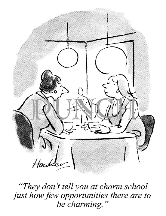 """""""They don't tell you at charm school just how few opportunities there are to be charming."""""""