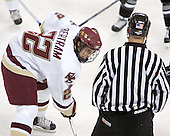 Dan Bertram  The Boston College Eagles defeated the Providence College Friars 3-2 in regulation on October 29, 2005 at Kelley Rink in Conte Forum in Chestnut Hill, MA.  It was BC's first Hockey East win of the season and Providence's first HE loss.