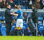 07.04.2018 Rangers v Dundee:<br /> Graeme Murty and Kenny Miller