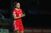 Anna Filbey of Wales applauds the fans at the final whistle during the UEFA Womens Euro Qualifier match between Wales and Northern Ireland at Rodney Parade in Newport, Wales, UK. Tuesday 03, September 2019